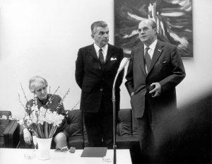 Karl Gerold mit dem hessischen Ministerpräsidenten Albert Osswald