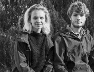Die Stipendiaten Olivia Kortas und Kasper Goethals
